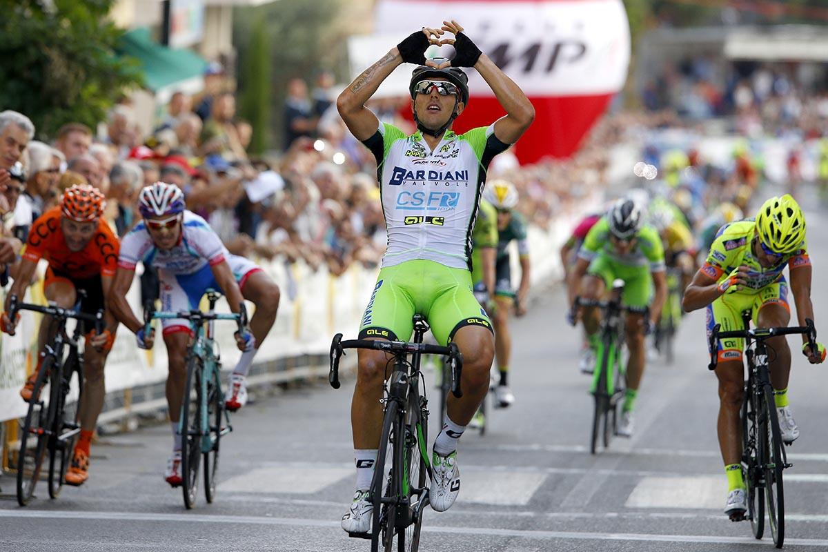 Coppa Sabatini - GP Peccioli 2014 - Peccioli - Peccioli 197,9 km - 09/10/2014 - Sonny Colbrelli (Bardiani - CSF) - foto Roberto Bettini/BettiniPhoto©2014